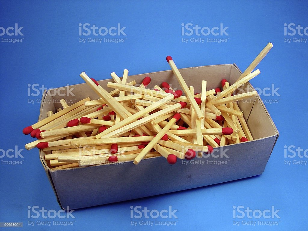 Match Box and Matches stock photo