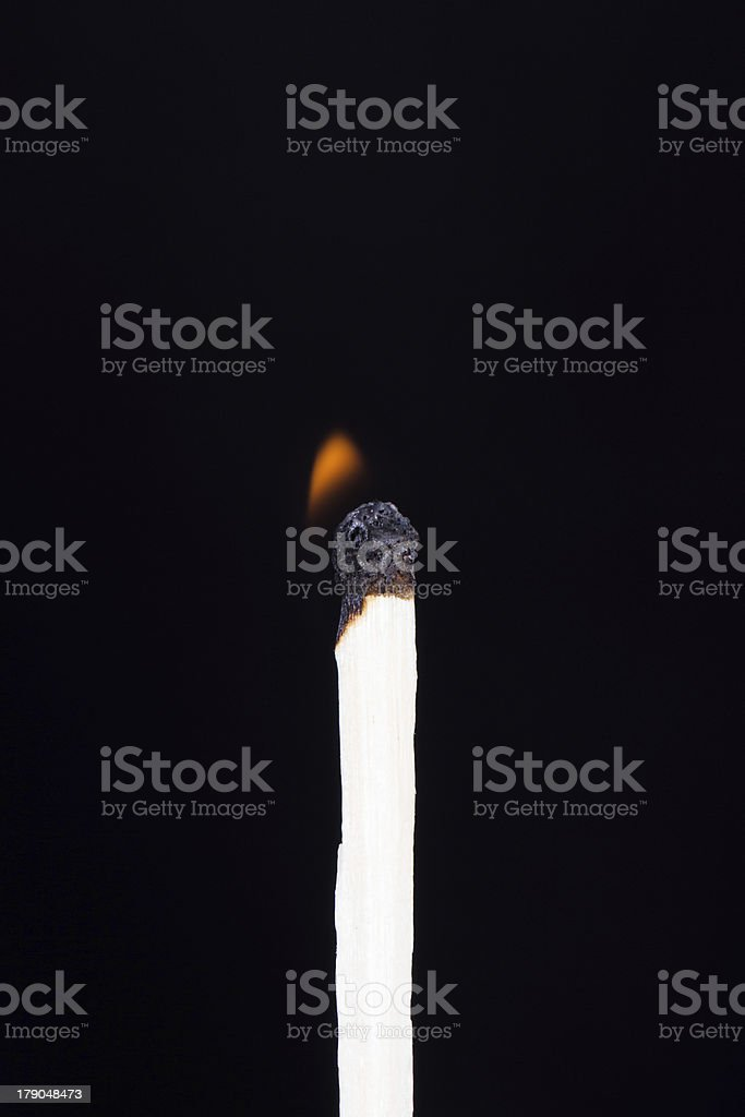 Match Burning in Low Energy royalty-free stock photo