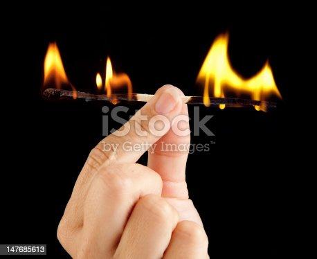istock Match burnout 147685613