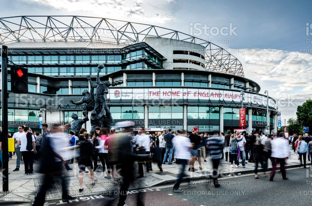 Match Day at Twickenham stock photo