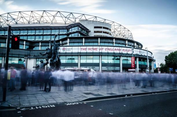 Match Day at Twickenham Stadium stock photo
