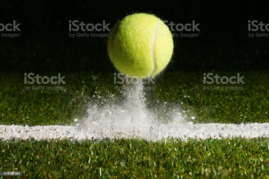 Match point stock photo