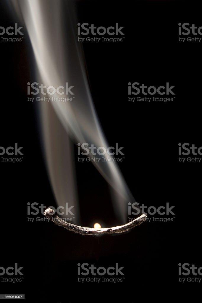 match smoke stock photo
