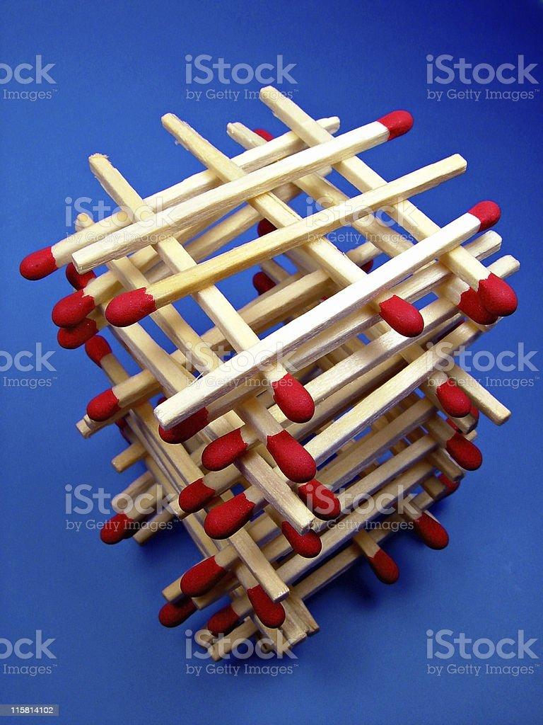 Match Stick Tower stock photo