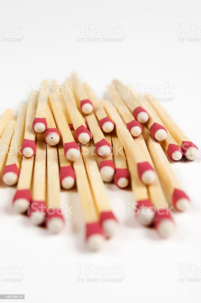 Match Sticks Stacked Up stock photo