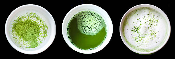 Matcha Green Tea Latte - Series stock photo