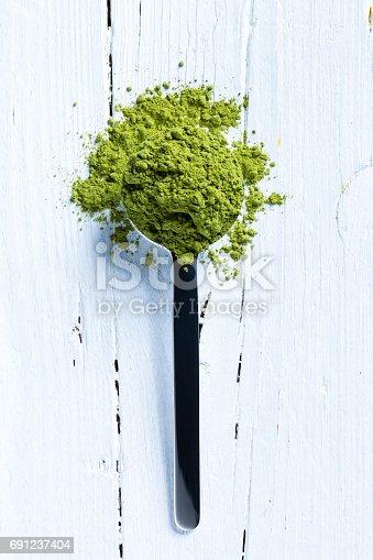 istock matcha green tea on spoon 691237404