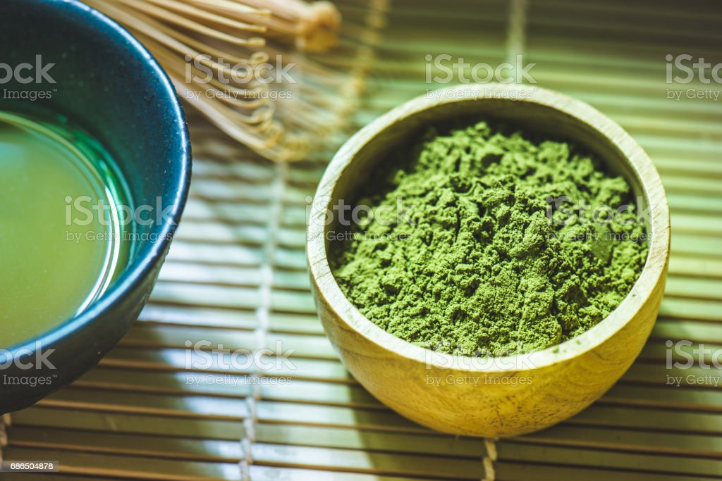 Matcha green tea zbiór zdjęć royalty-free