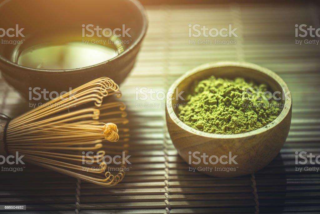 Matcha green tea royaltyfri bildbanksbilder