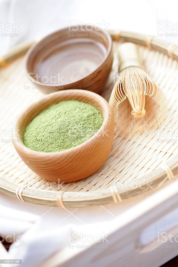 matcha powder stock photo