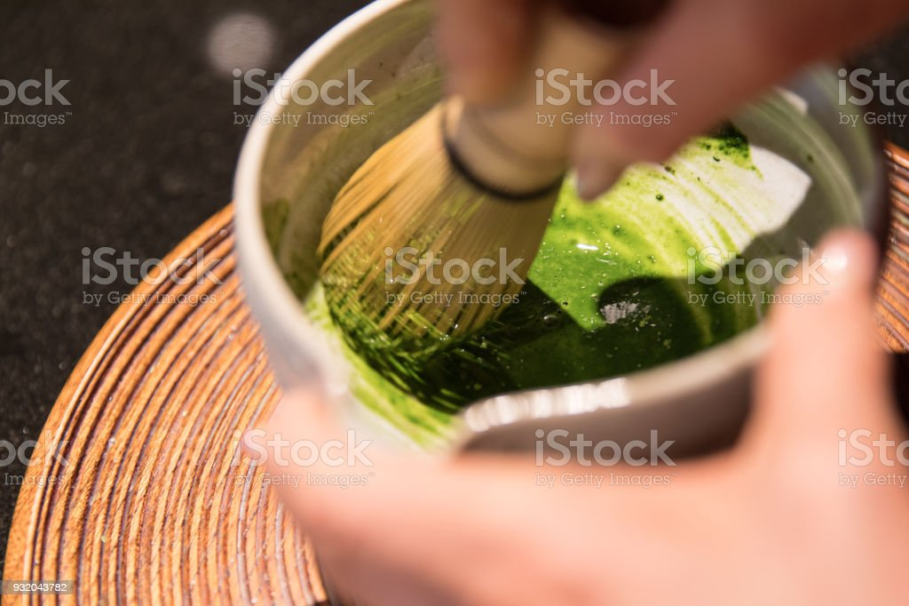 Matcha, tea ceremony stock photo