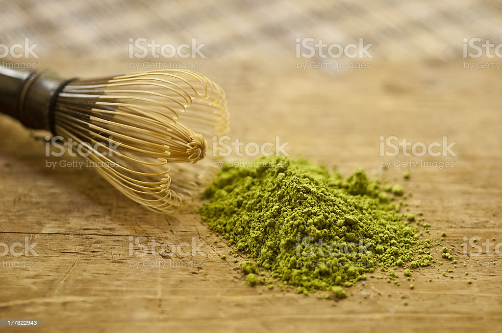 matcha tea stock photo