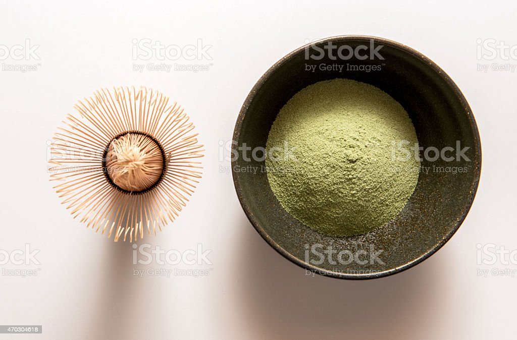 Matcha,Green Tea, chasen stock photo