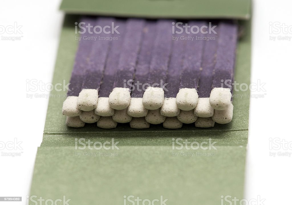 Matchbook isolated royalty-free stock photo
