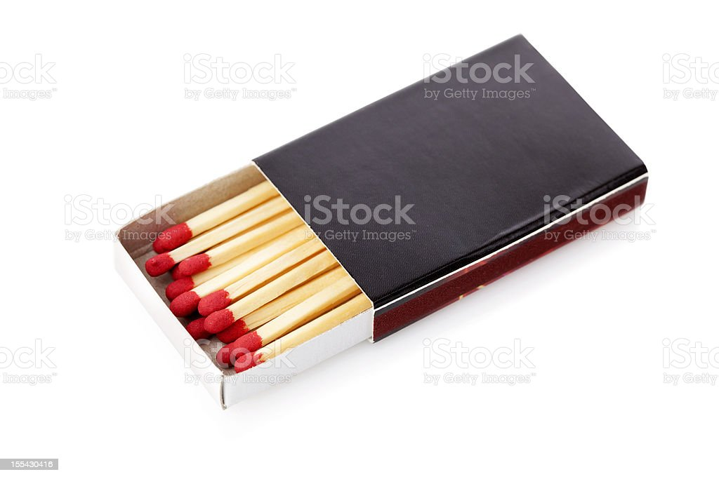 matchbox with clipping path stock photo