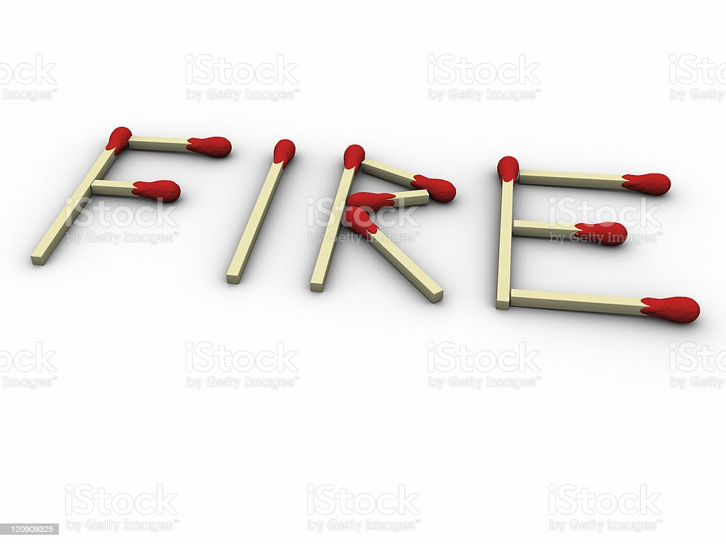 Matches fire royalty-free stock photo