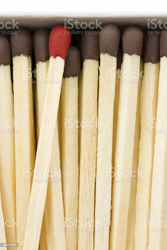 Matches in a box royalty-free stock photo