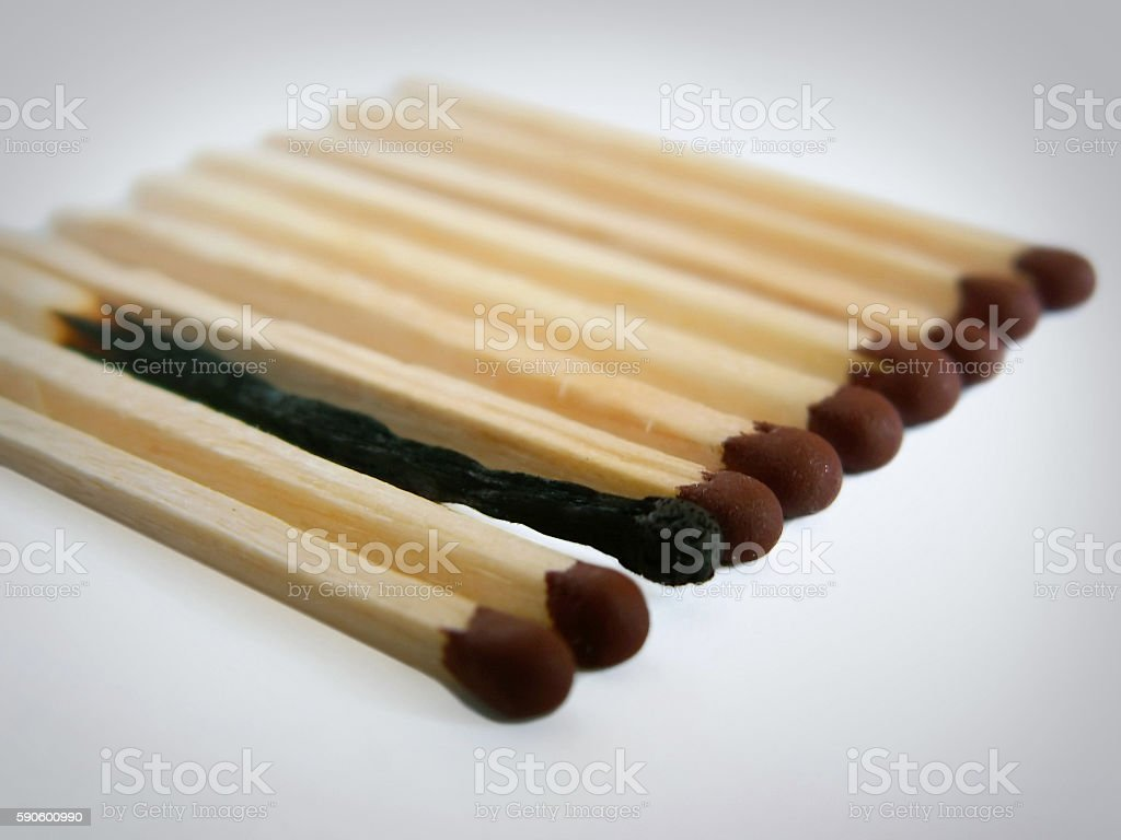 matches in a row stock photo