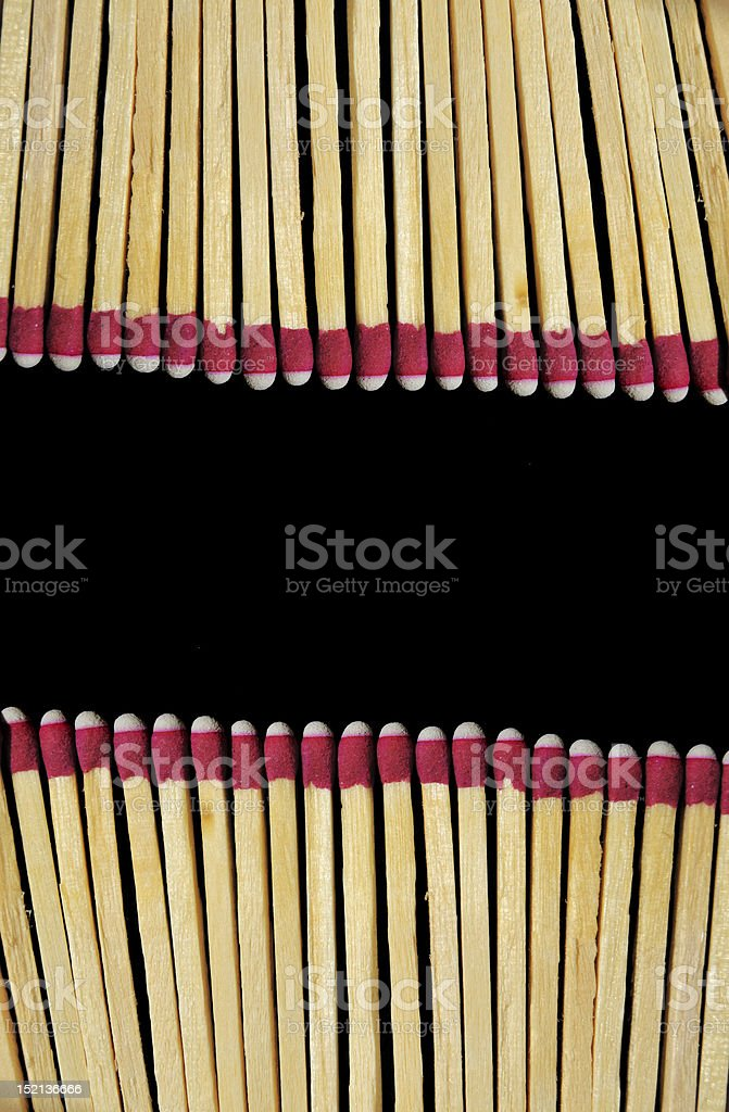 Matches Isolated on Black Background stock photo