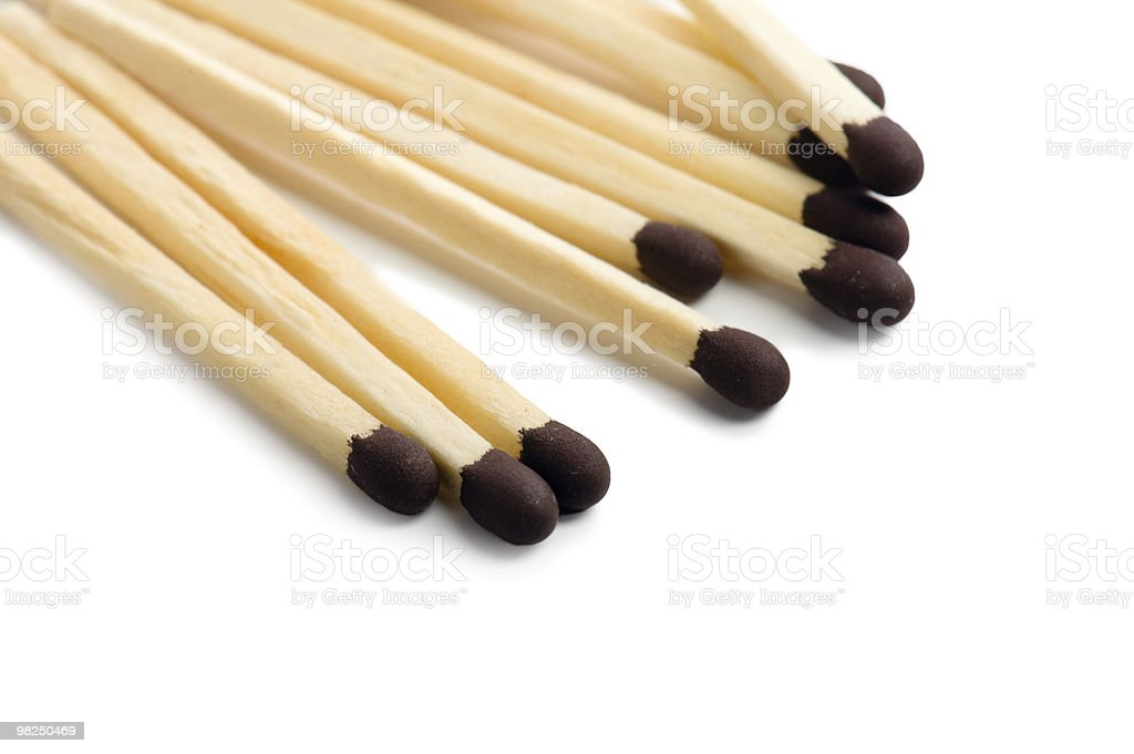 Matches isolated on white background royalty-free stock photo