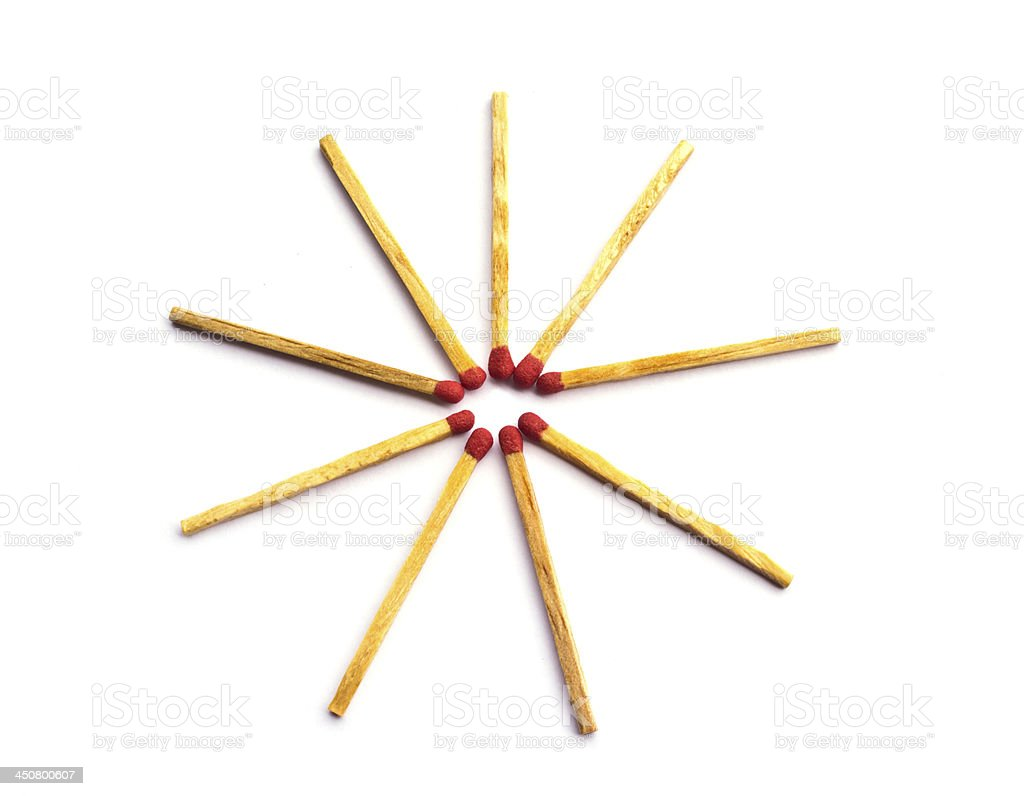 Matches isolated royalty-free stock photo