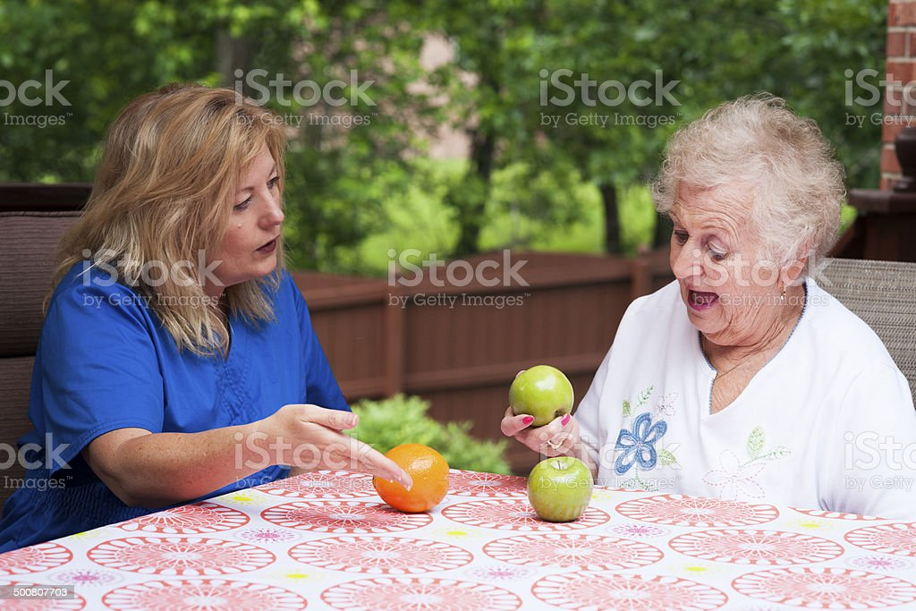 Matching apples to apples stock photo