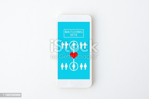 1125634019 istock photo Matching application for smart phone 1188596988