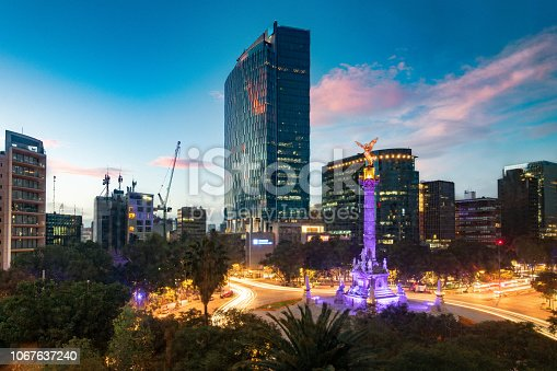 Mexico City Paseo de la Reforma Skyline