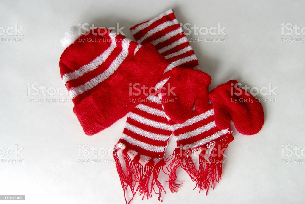 matching winter clothes royalty-free stock photo