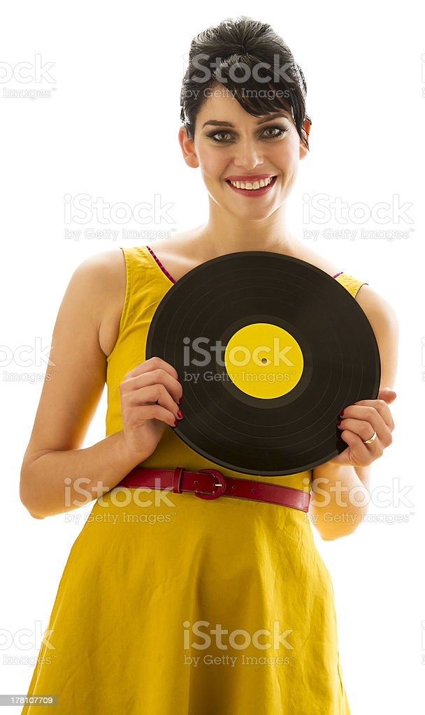 Matching with the record royalty-free stock photo