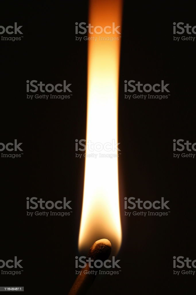 Matchstick Flame Burning Arson Fire royalty-free stock photo