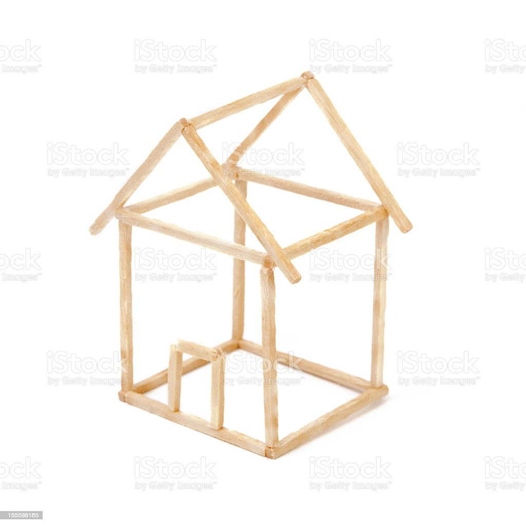 Matchstick house royalty-free stock photo