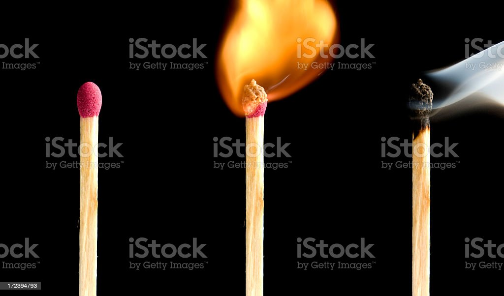 Matchstick royalty-free stock photo