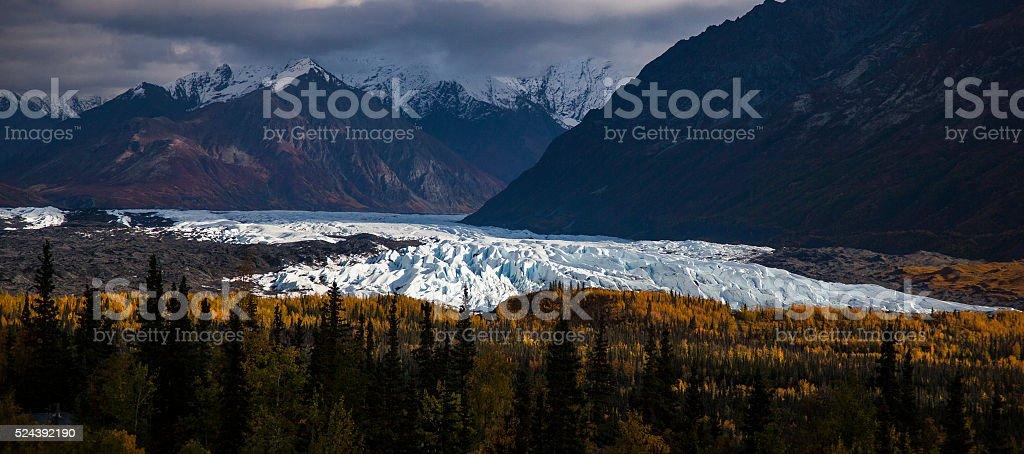 Matenuska glacier in fall stock photo