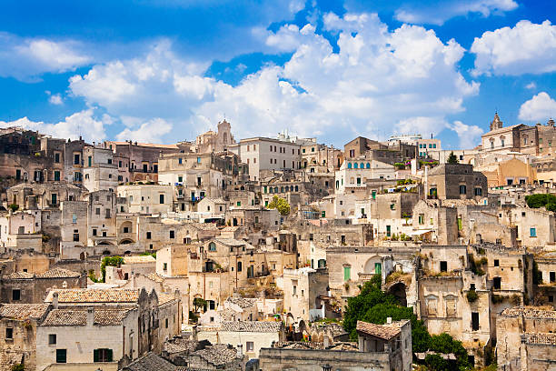 Matera The historic city of Matera in Basilicata, Italy. UNESCO World Heritage Site. This amazing town was the backdrop for, among others, Mel Gibsons movie