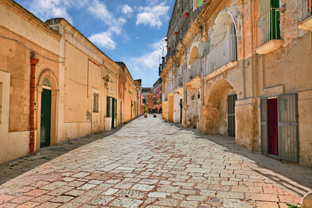 Matera, Basilicata, Italy: ancient street in the old town
