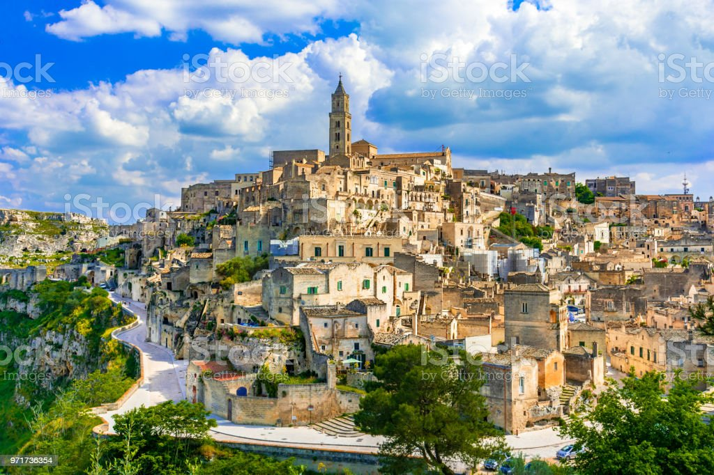 Matera, Basilicata, Italy: Landscape view of the old town - Sass - foto stock