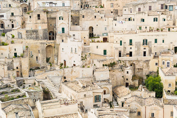 Matera cityscape Shot in Matera, Southern Italy matera italy stock pictures, royalty-free photos & images