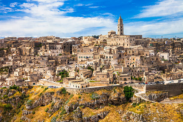 Matera, Italy Ancient cave town in Basilicata matera italy stock pictures, royalty-free photos & images
