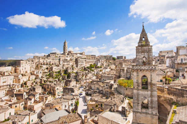 Matera town, Basilicata, Italy Matera, Italy. UNESCO World Heritage Site. European capital of culture 2019 matera italy stock pictures, royalty-free photos & images