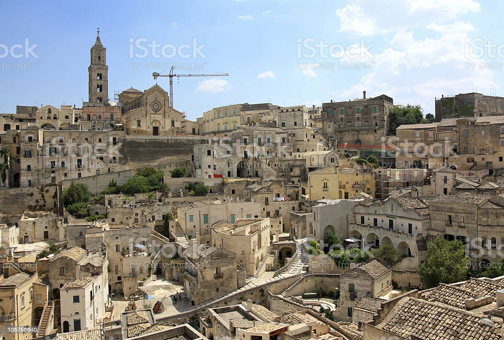 Matera view, Basilicata, Italy royalty-free stock photo
