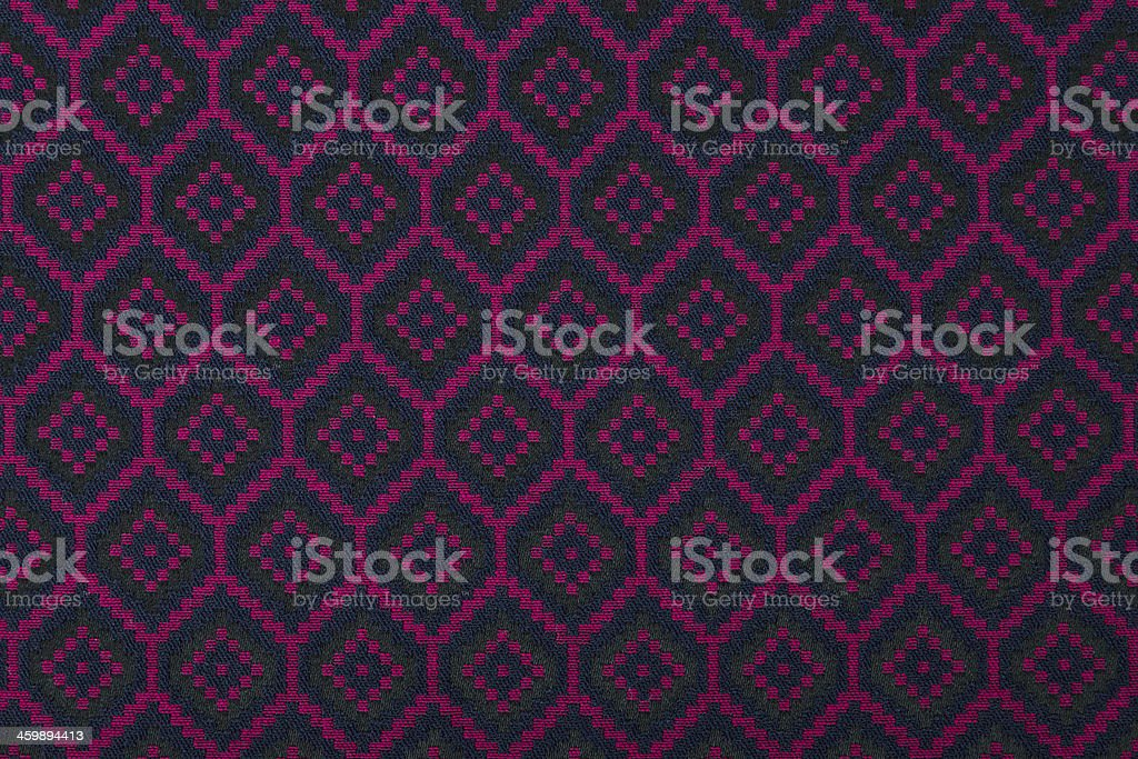 Material in geometric patterns, a textile background. stock photo