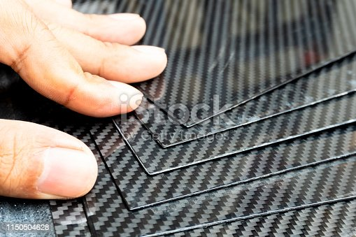 Material of composite product dark carbon fiber plate