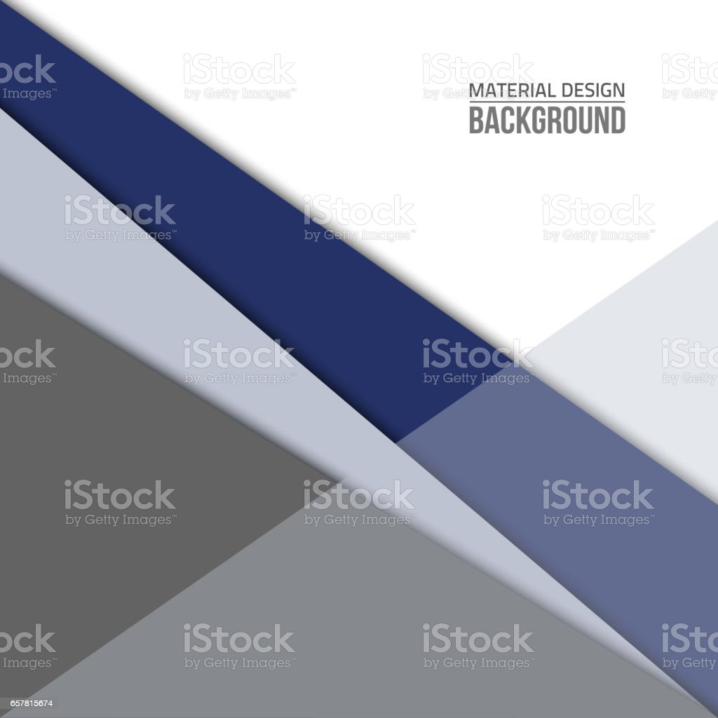 Material-design-blue-shape stock photo
