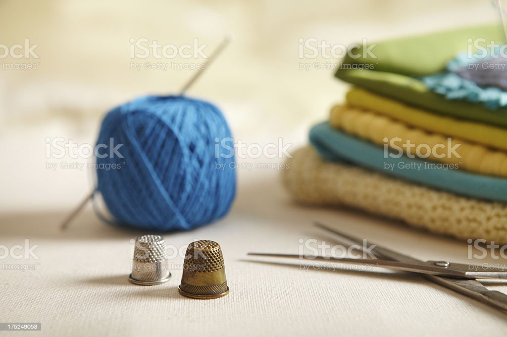 Materials for needlework royalty-free stock photo