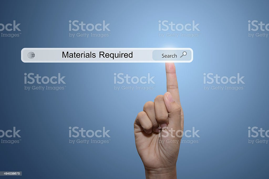 Materials Required royalty-free stock photo