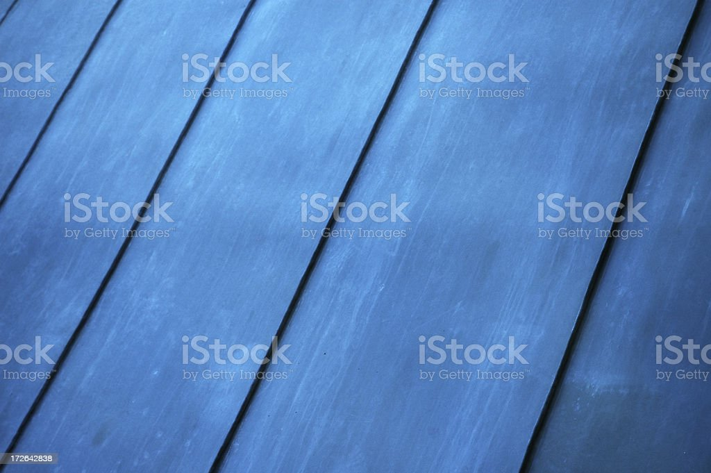 Materials - Zinc roofing royalty-free stock photo