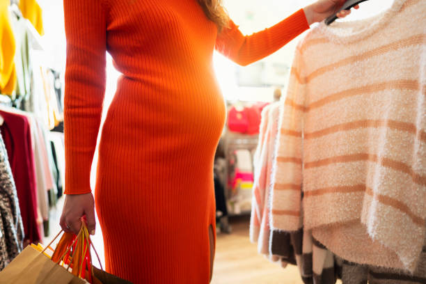 Maternity clothes for the stylish mom stock photo