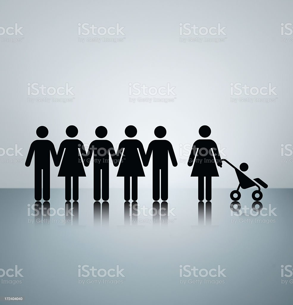 Maternity leave royalty-free stock photo