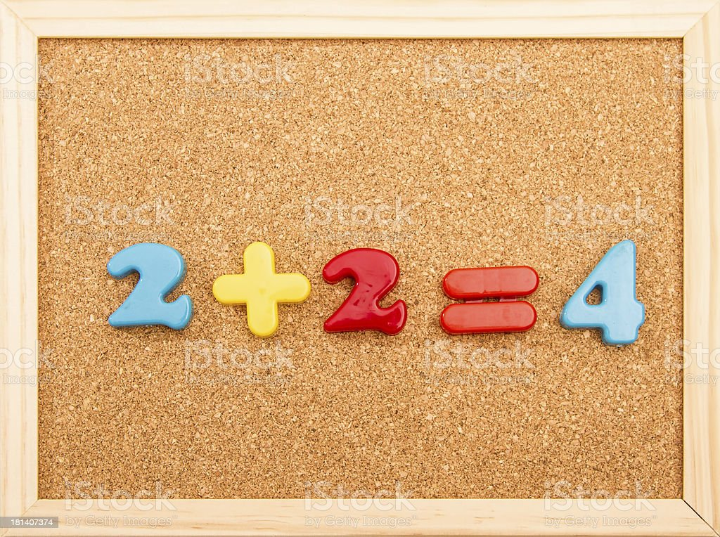 Math Addition royalty-free stock photo